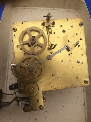 Large Vintage Brass Chiming Mauthe Comet Gdr Mantel Clock Movement - Steampunk