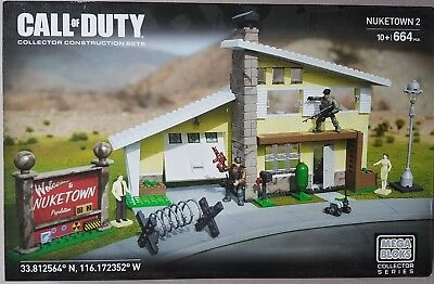 Call of Duty Mega Bloks Nuketown 2 II new sealed CNG98