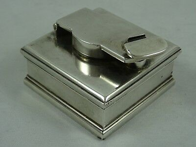 GEORGE III solid silver TRAVELLING INK WELL, 1817, 79gm