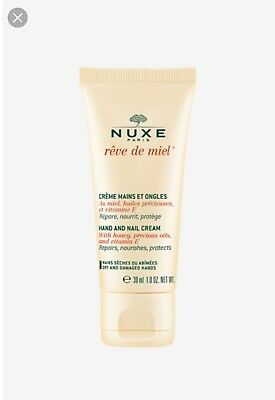 Nuxe REVE DE MIEL Hand and Nail Cream 30ml Dry/Damaged Skin Vitamin E & Honey