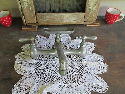 Vintage Old Kitchen Sink Faucet With Soap Dish