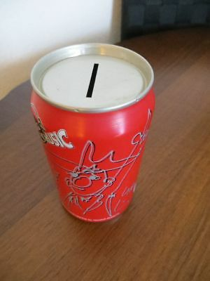 Alte Coca-Cola Dose Udo Lindenberg als Spardose old can GERMANY money box