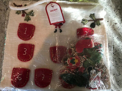 Pottery Barn Kids Felted Wool Advent Calendar & Ornament Set NEW Adorable!