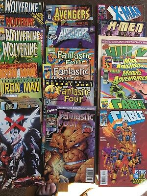 Marvel Comics Wolverine Hulk Avengers Iron Man Fantastic Four Cable Job Lot Xmen