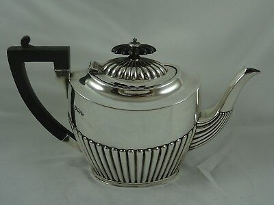 QUALITY, VICTORIAN solid silver `BACHELORS` TEA POT, 1895, 378gm