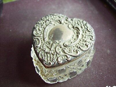 Antique Hallmarked Sterling Silver Perfume Face Cream Bottle Vacant Cartouche