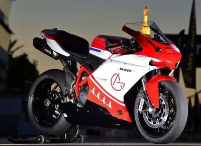 Ducati 848 Evo 2011, Track Bike w/Wets on Wheels, stands, spares package