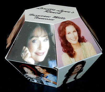 Vintage LORETTA LYNN / COAL MINERS DAUGHTER Photo Cube MINT in MAILING ENVELOPE