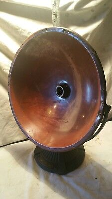 Vintage Copper Heater Accent Lamp Light Steampunk Iron antique industrial