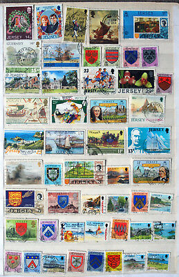 Fine Collection of Different Used Jersey Stamps.