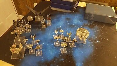X-Wing Miniatures Lot (26 ships) + Plano Storage Solution + Binder for Cards