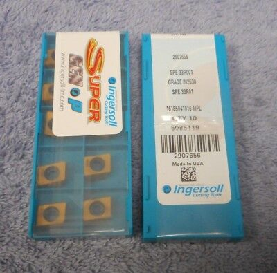 INGERSOLL     Carbide Inserts    SPE 33R001    Grade  IN2530     PACK OF 10