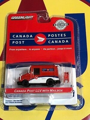 Greenlight Hobby 1:64 Canada Post Llv With Mailbox Mail Delivery Vehicle Red