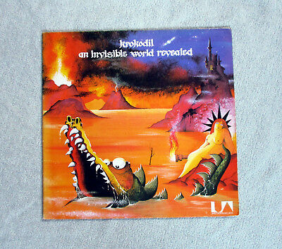 Rare Krautrock Prog LP KROKODIL - AN INVISIBLE WORLD REVEALED Original Pressung