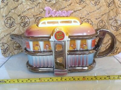 Rare Teapottery Swineside Novelty Collectable Teapot Earls Diner Perfct Condtion