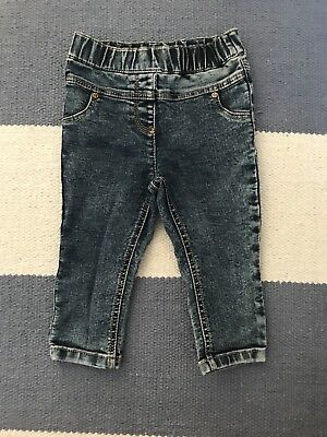 Baby Girls NEXT Jeans 6-9 Months Excellent Condition