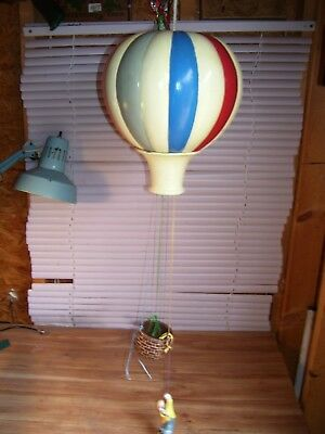 Vintage Large All Ceramic Hot Air Balloon With A Clown Hanging Out Of A Basket