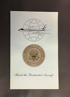 Air Force One President of the United States Preflight Report Lyndon Johnson