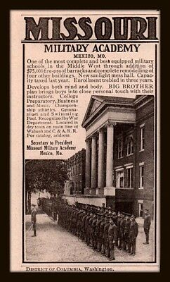 Ad Lot Of 2 1918 B C Ads Missouri Military Academy Mexico