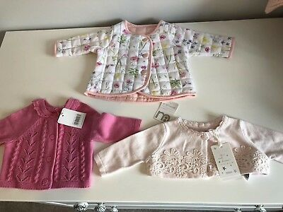 Baby Girl Summer Bnwt Mothercare Tu Bundle Newborn 0 3 Dress Romper Cardigan