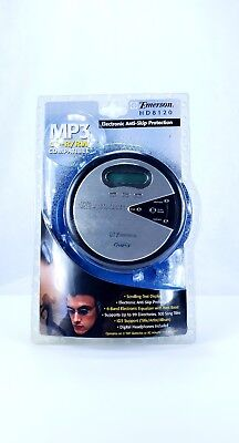 Emerson HD8120 MP3 CD-R/RW Portable CD Player w/ Headphones NEW factory sealed