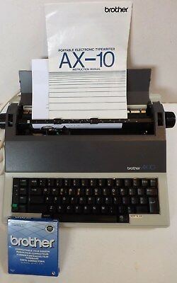 Brother Ax-10  Electric Typewriter  In  Work  Condition With  New  Ribbon