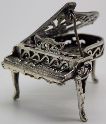 Vintage Solid Silver Italian Made Piano Miniature, Figurine, Stamped*