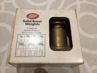 Boots Solid Brass Weights, Metric Original Box