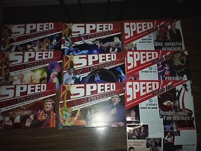 Lot 9 magazines SPEED MAGAZINE du Festival du cirque de Grenoble - circus, circo