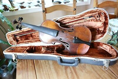 Antique Paolo Albani Reproduction 19th Century Violin Vintage Bachert Bow