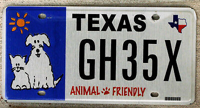 "Texas ""Animal Friendly"" License Plate"