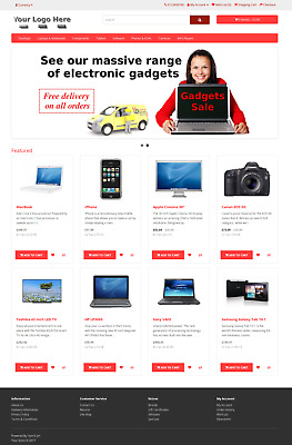 E-commerce Shopping Cart Website Online Store + Free Domain Name + Hosting