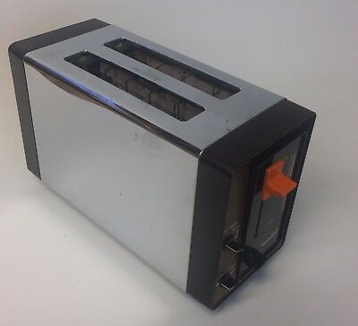 Vintage Toastmaster Mcgraw B720 Chrome Wood 2 Slice Electric Toaster Oven Works