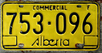 1975 Black on Yellow Alberta COMMERCIAL License Plate