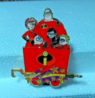 "PIN 2007 Disney ""THE INCREDIBLES"" Train Collection Mystery Set - Pin Trading"