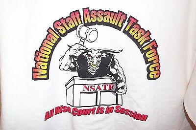 National Staff Assault Task Force Police Tshirt Jail Sheriff Corrections Mens L
