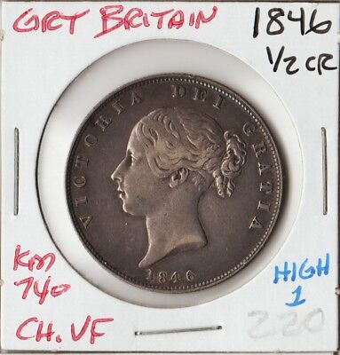 Great Britain 1846 | Half 1/2 Crown | Ch Vf
