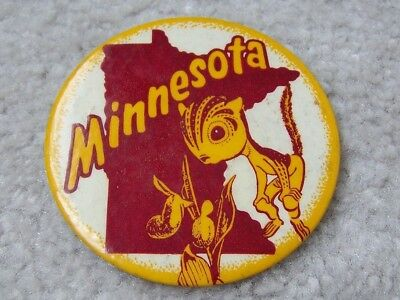 Minnesota Gopher with Lady Slipper Pinback Button
