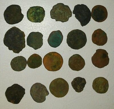 Lot of 20 Small Unidentified Ancient Roman And Greek Coins