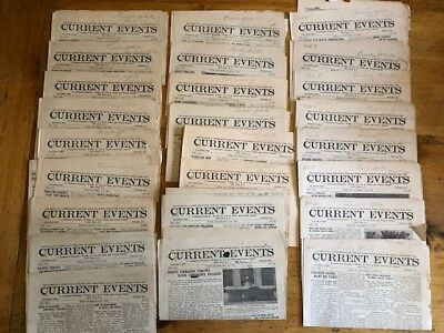 1922 Current Event newspapers lot of 25