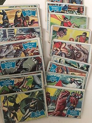Vintage Batman Trading Card Lot 51 Cards Rare Catwoman Robin Adam West