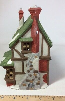 1988 Dept 56 Dickens Village T Wells Fruit and Spice Shop #59242 Retired I648