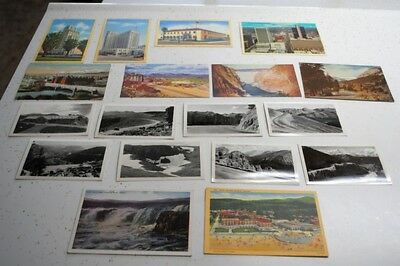 18 Vtg Postcards-4 States-Arizona, Nevada, Colorado, Oregon-Linen,blk/wht Views-