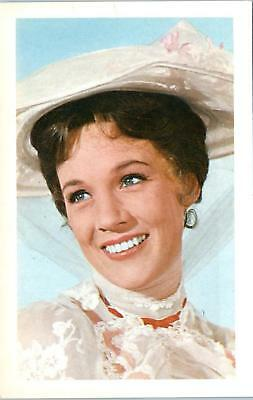 """JULIE ANDREWS  c1960s  Continental size  Postcard  """"Mary Poppins""""?"""
