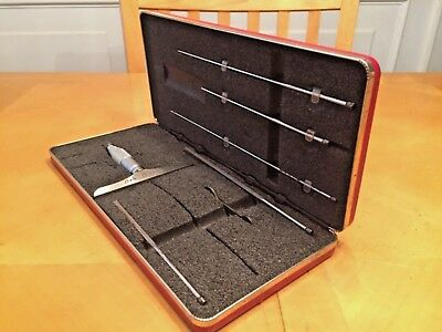 Starrett Depth Micrometer No.449 Set Blade Type Complete