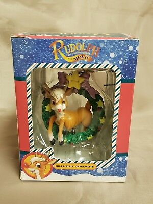 Rudolph the red nose reindeer the movie collectible Christmas ornament NEW 1998