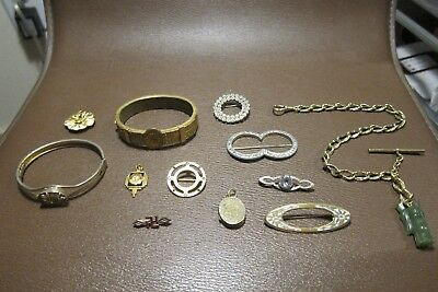 Great Lot of Victorian/Vintage Gold Filled & Mixed Metal Jewelry Scrap/Use