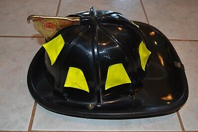 Cairns Black Fire Helmet -  Black Vg Clean Condition Adjustable Size Med. No R