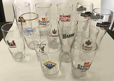 10 RARE OVERSEAS BEER GLASSES plus 5 Others