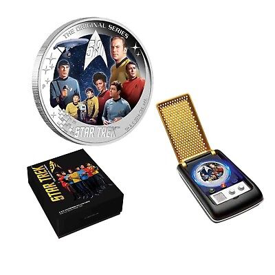Star Trek U.S.S. Enterprise NCC-1701 Crew 2016 Tuvalu $2 2oz Silver Proof Coin